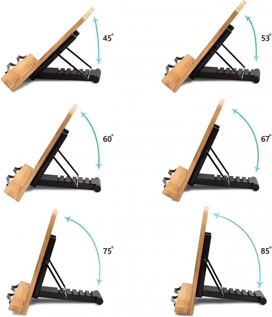leggio regolabile in bamboo