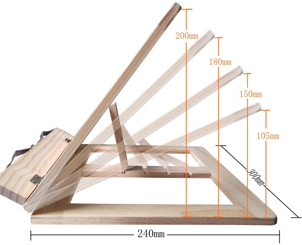leggio legno regolabile