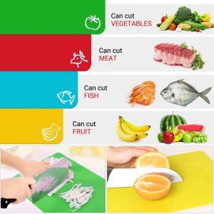 taglieri colorati in plastica generi alimentari