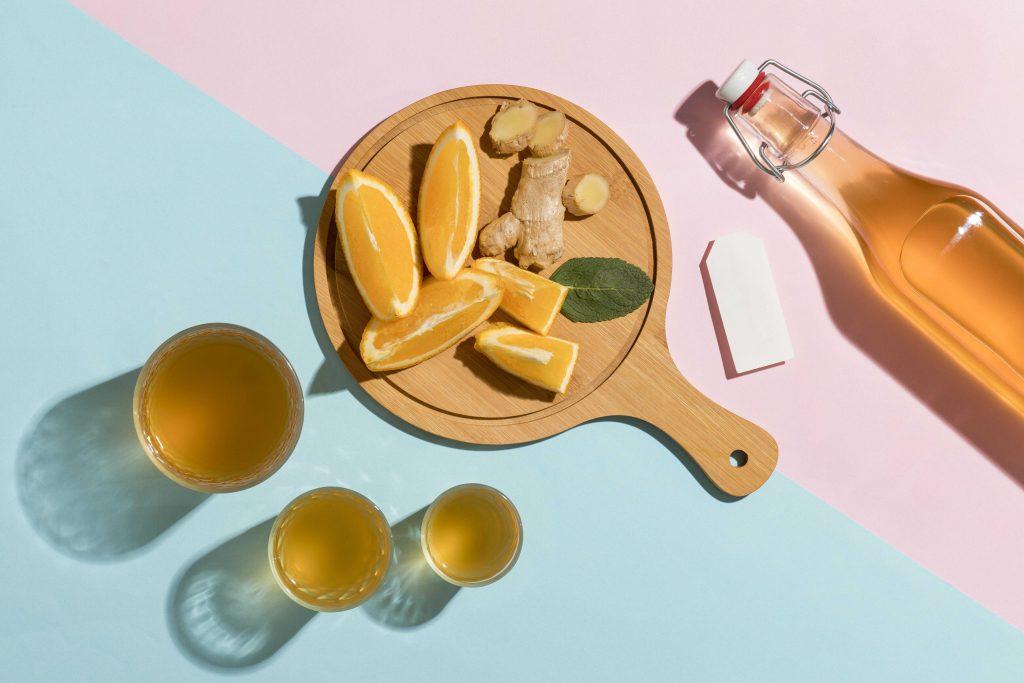 piatto da portata con limone e zenzero