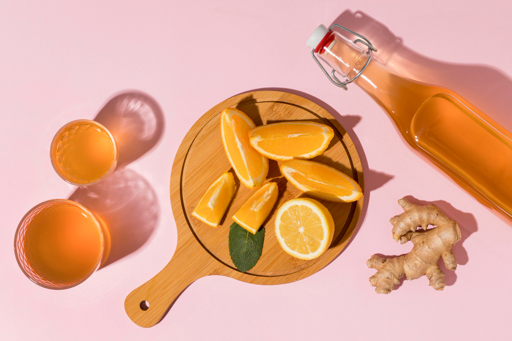 piatto di portata kombucha zenzero e limone