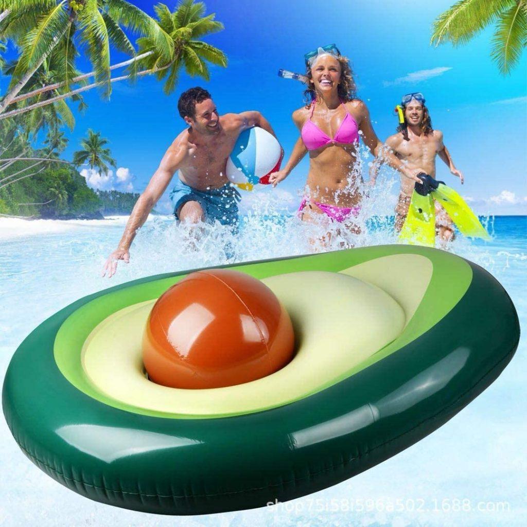 Lettini gonfiabili galleggianti avocado
