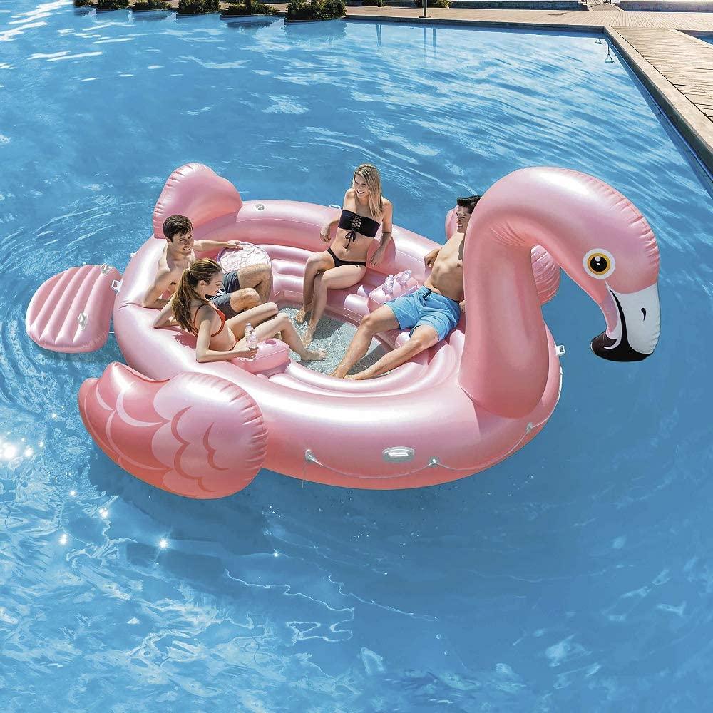 motoscafo gonfiabile galleggiante amici